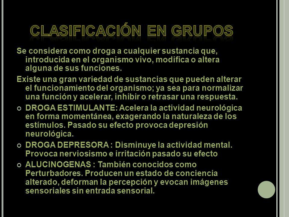 Clasificación en grupos