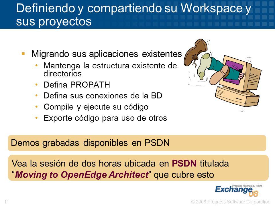 Definiendo y compartiendo su Workspace y sus proyectos