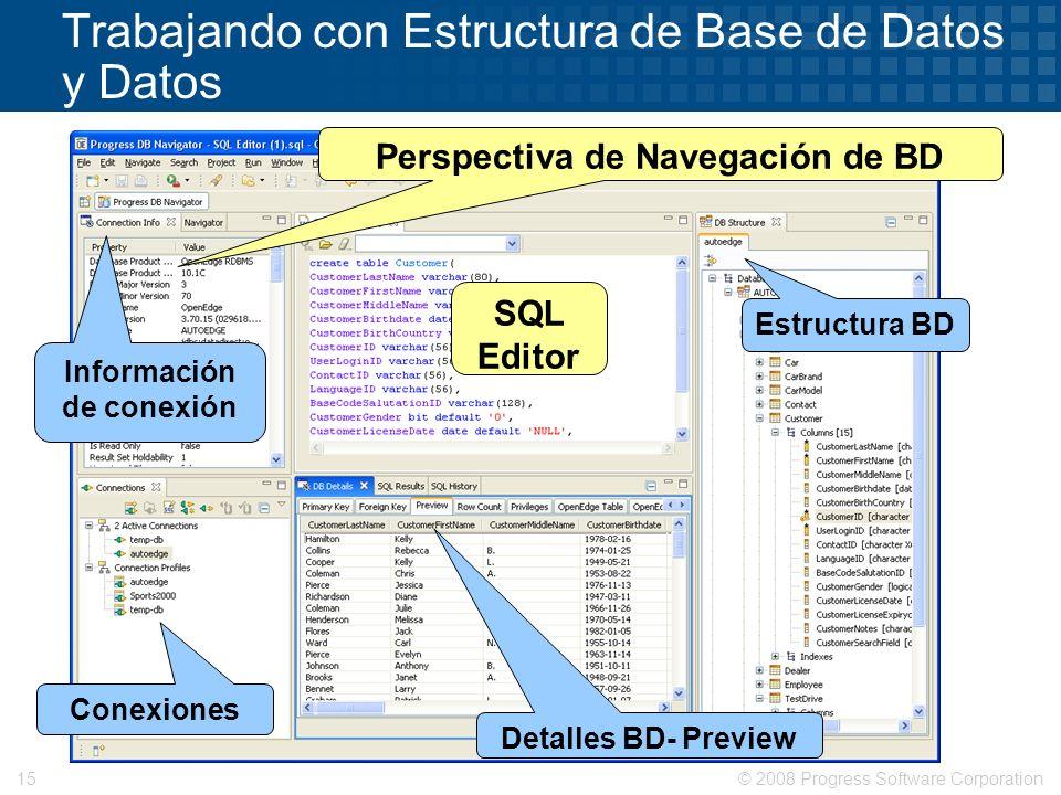 Trabajando con Estructura de Base de Datos y Datos
