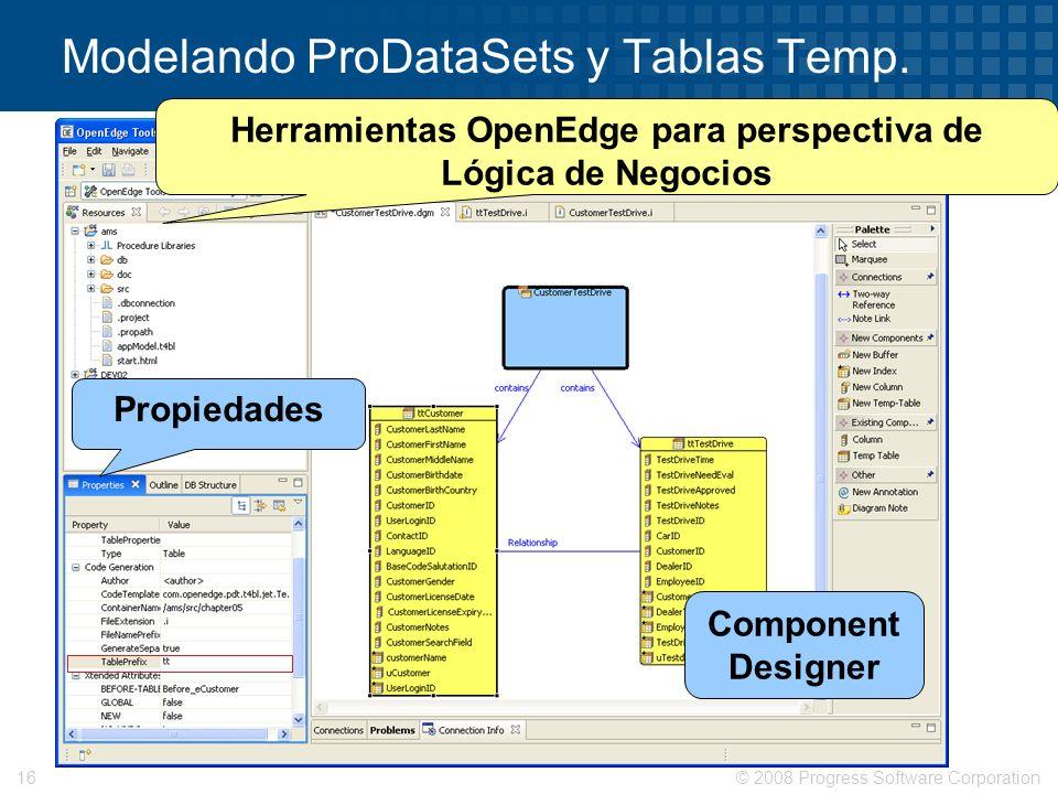 Modelando ProDataSets y Tablas Temp.