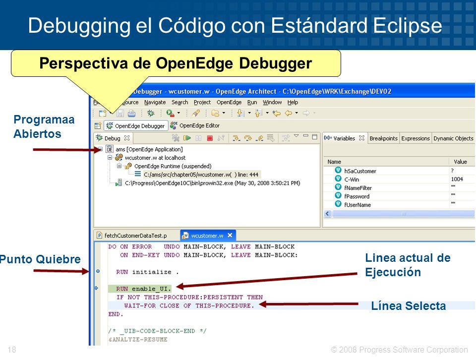 Debugging el Código con Estándard Eclipse