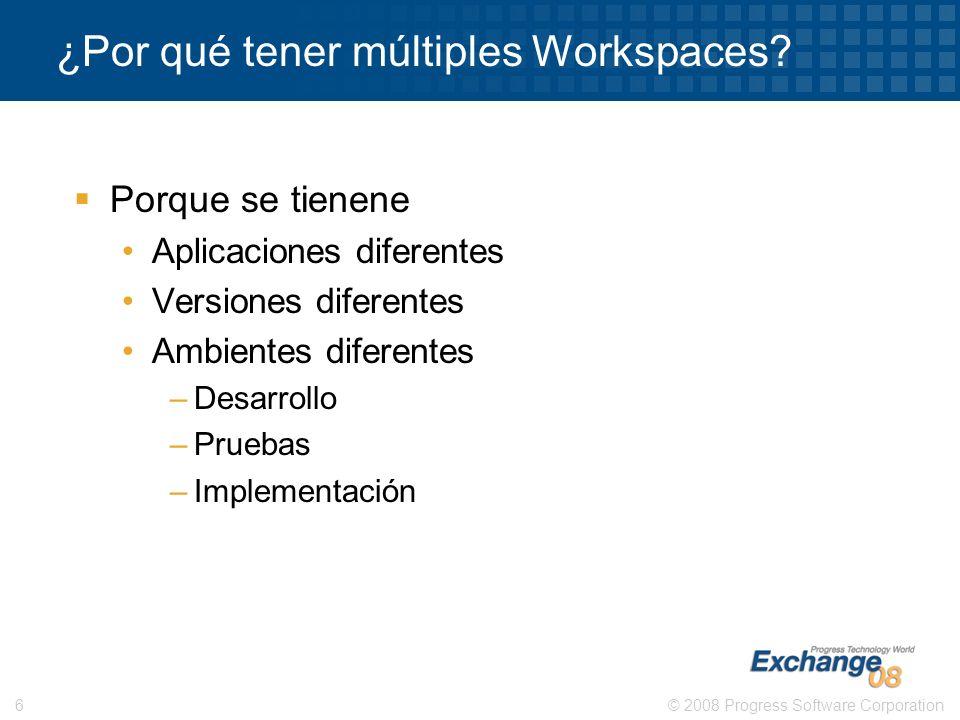 ¿Por qué tener múltiples Workspaces