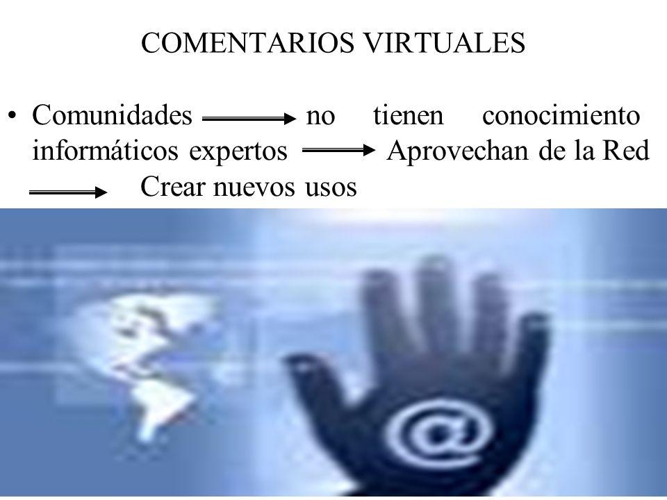 COMENTARIOS VIRTUALES