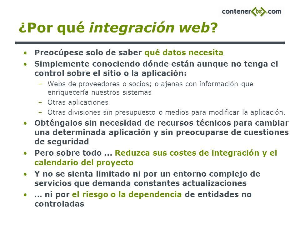 ¿Por qué integración web