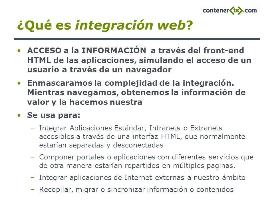 ¿Qué es integración web