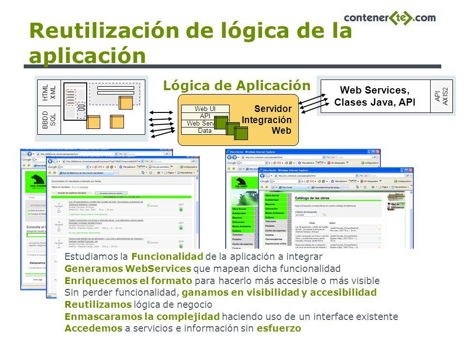 Reutilización de lógica de la aplicación