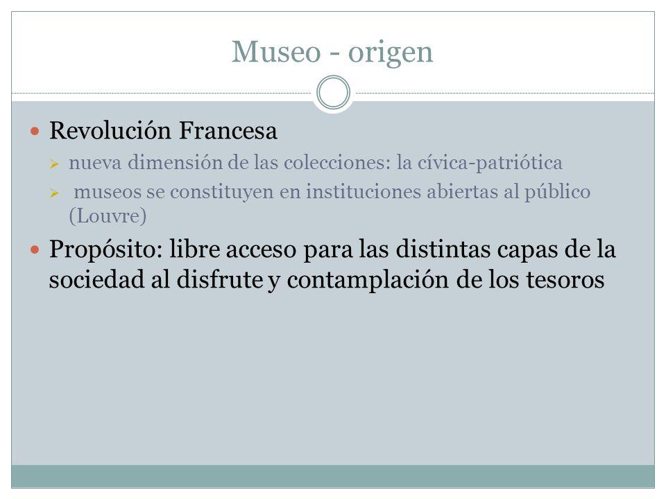 Museo - origen Revolución Francesa