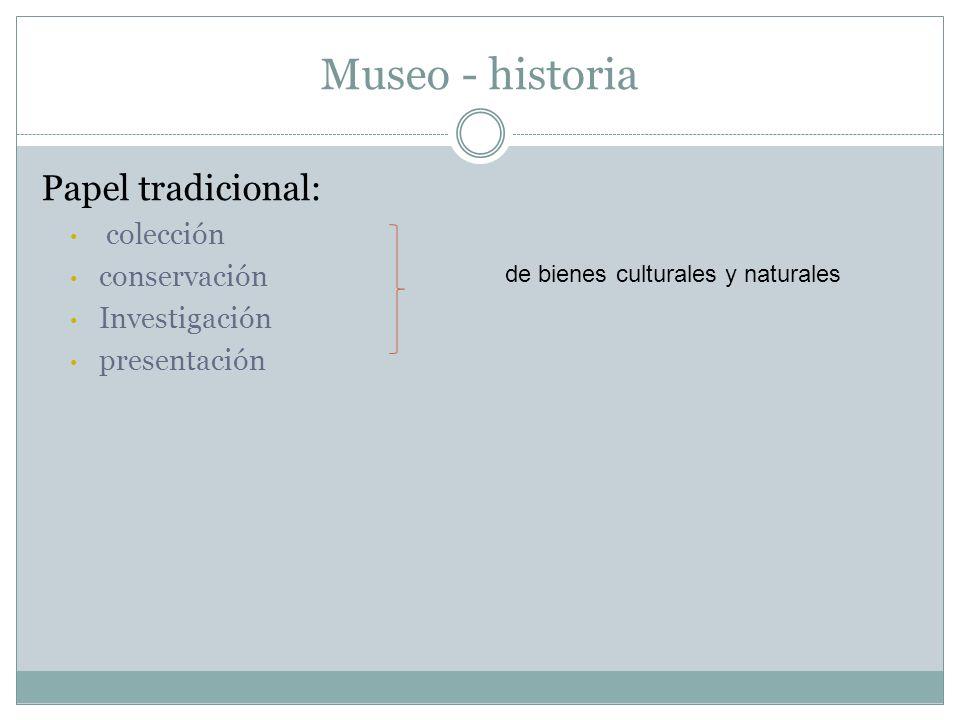 Museo - historia Papel tradicional: colección conservación