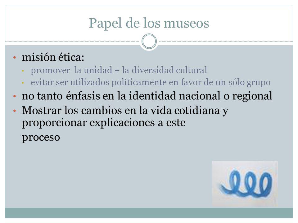 Papel de los museos misión ética: