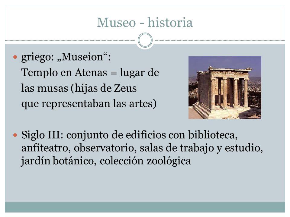 """Museo - historia griego: """"Museion : Templo en Atenas = lugar de"""