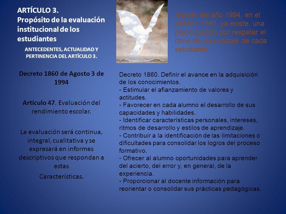 ANTECEDENTES, ACTUALIDAD Y PERTINENCIA DEL ARTÍCULO 3.