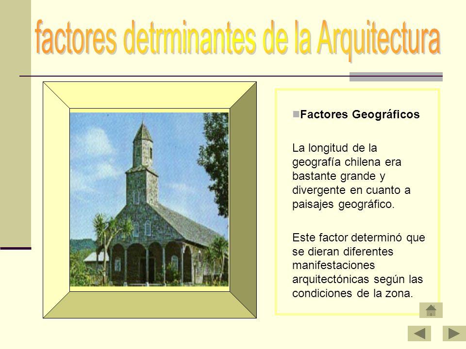 factores detrminantes de la Arquitectura
