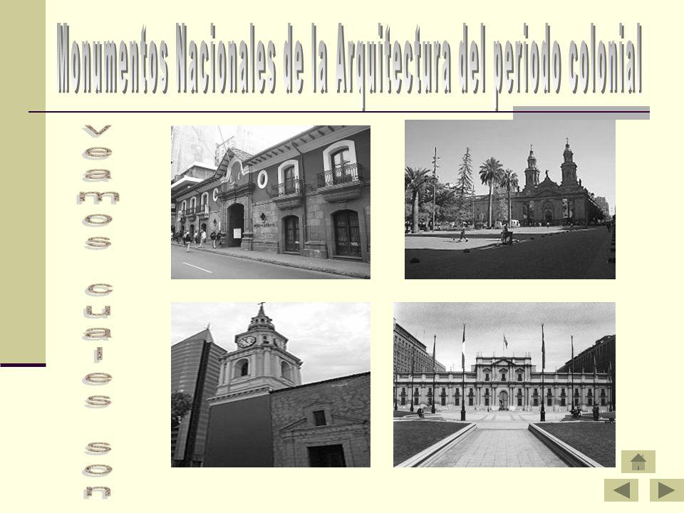 Monumentos Nacionales de la Arquitectura del periodo colonial