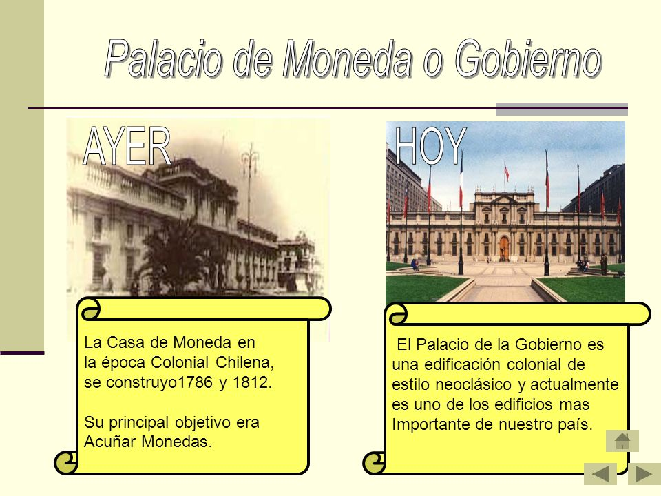 Palacio de Moneda o Gobierno
