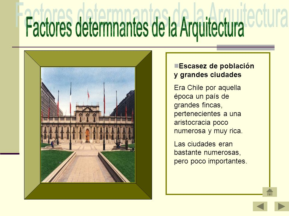 Factores determnantes de la Arquitectura