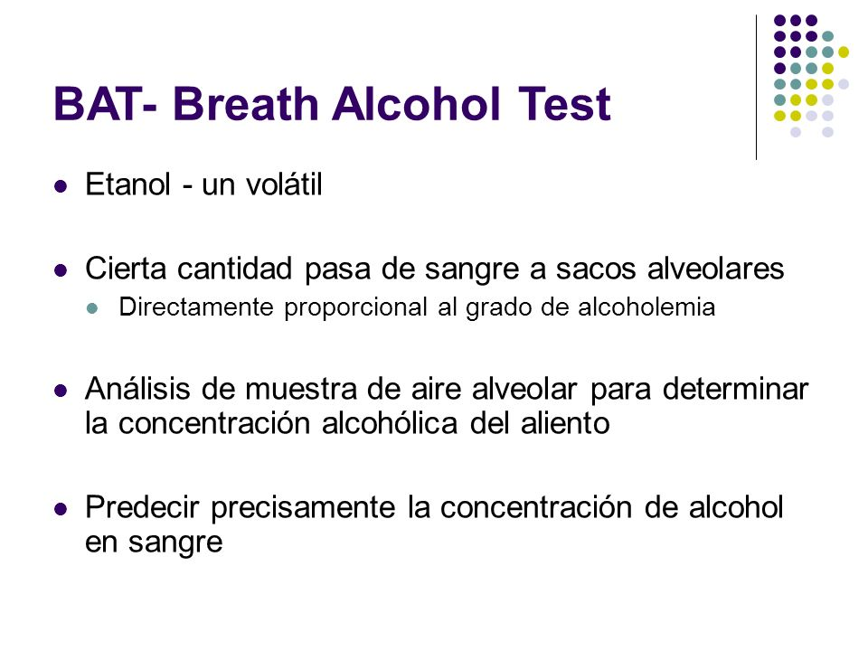BAT- Breath Alcohol Test