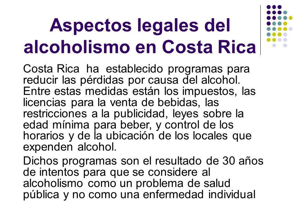 Aspectos legales del alcoholismo en Costa Rica