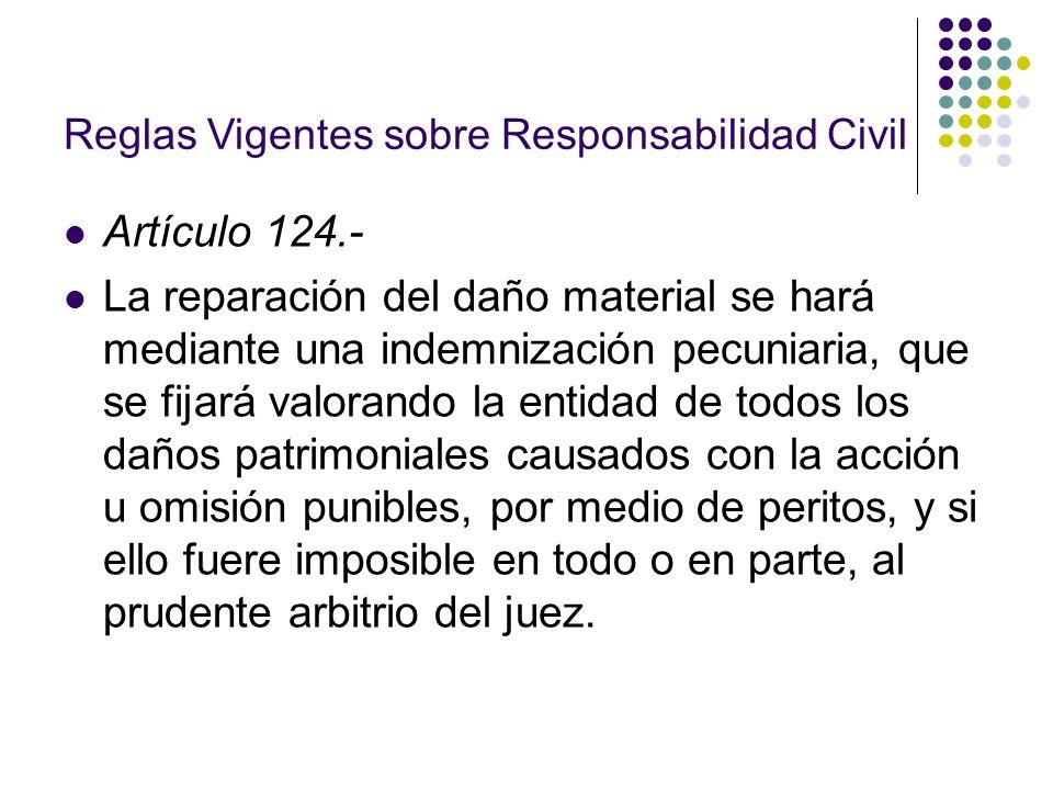 Reglas Vigentes sobre Responsabilidad Civil