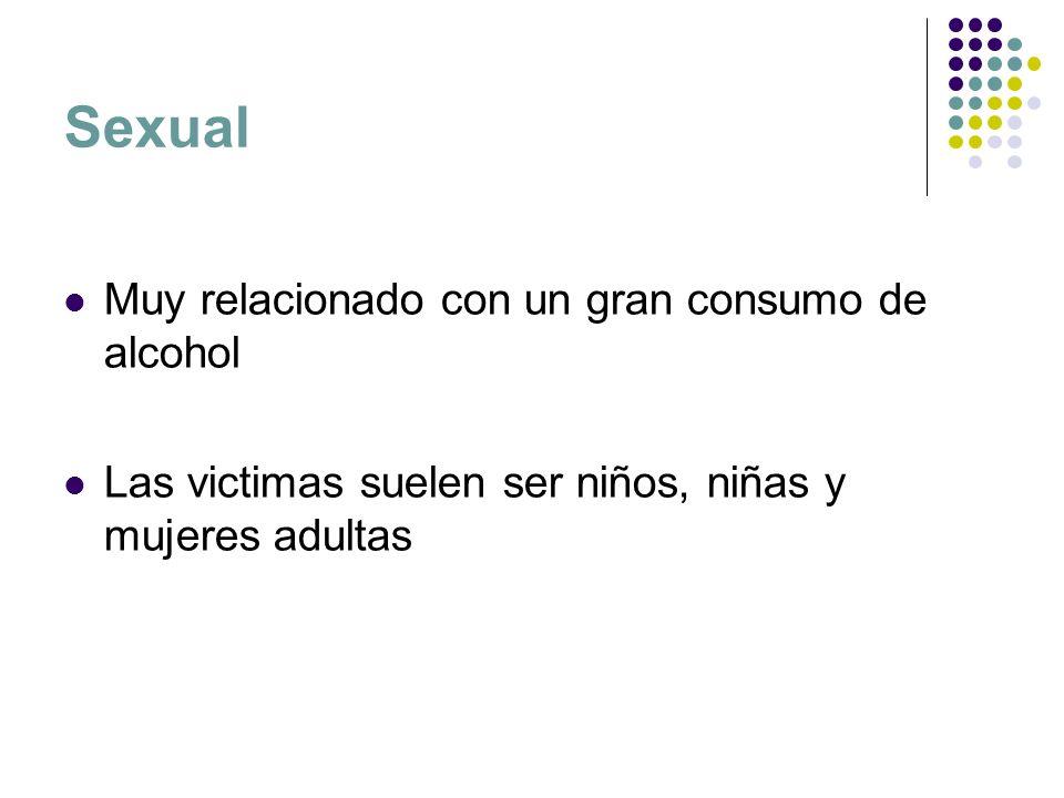 Sexual Muy relacionado con un gran consumo de alcohol