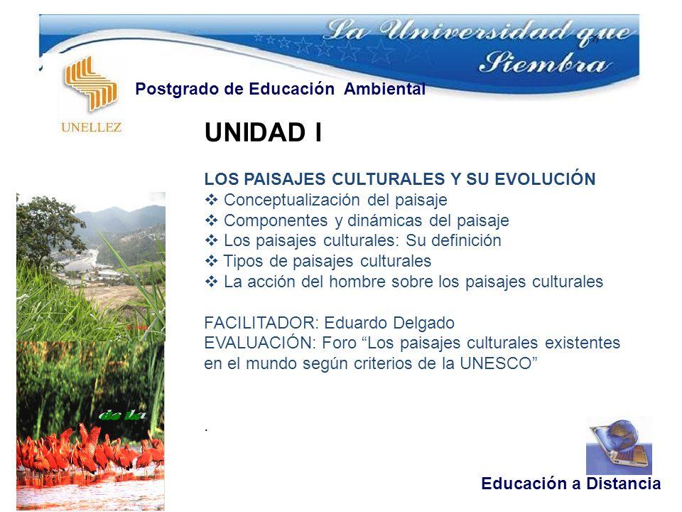 UNIDAD I Postgrado de Educación Ambiental