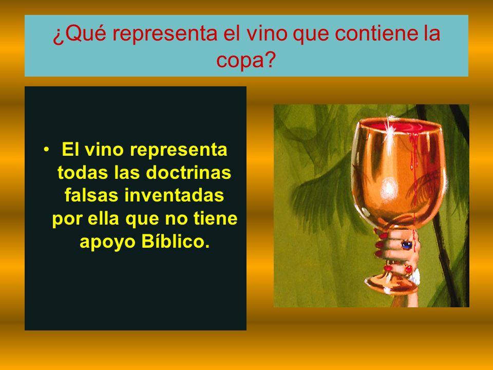 ¿Qué representa el vino que contiene la copa