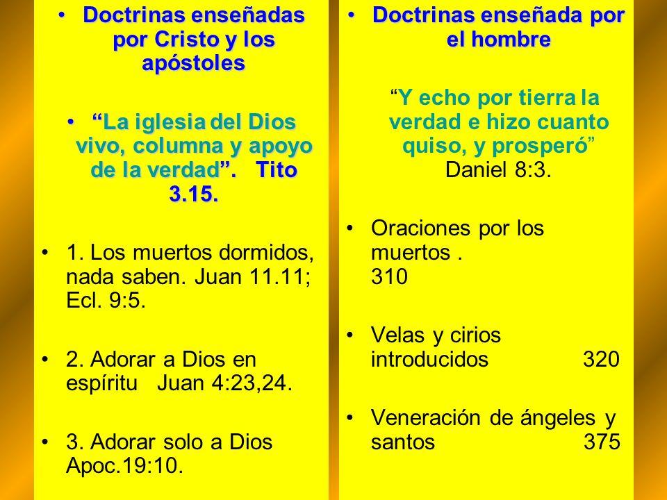 Doctrinas enseñadas por Cristo y los apóstoles
