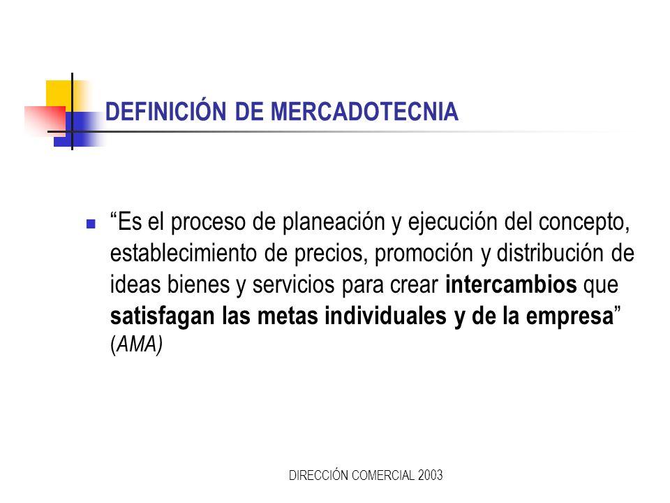 DEFINICIÓN DE MERCADOTECNIA