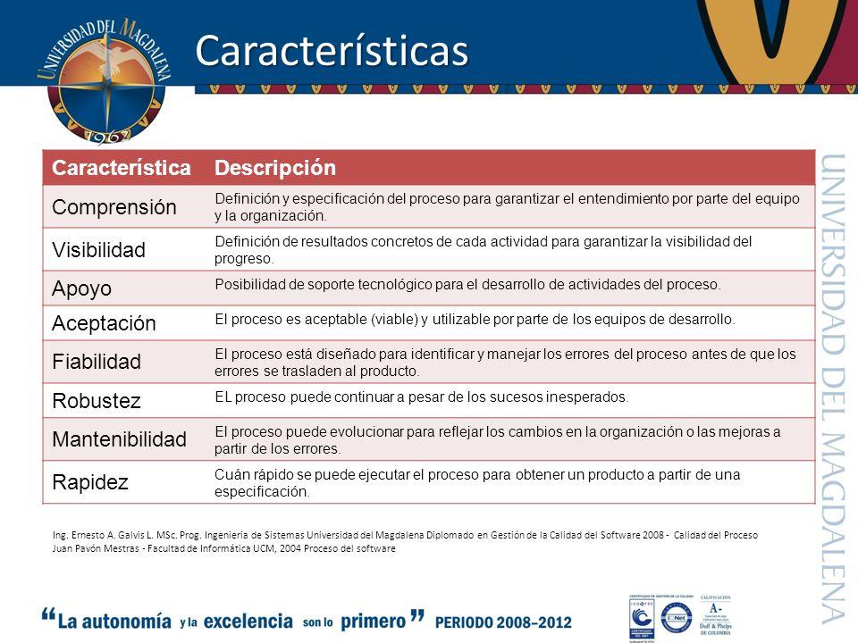 Características Característica Descripción Comprensión Visibilidad