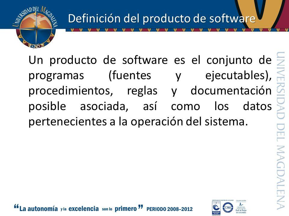 Definición del producto de software