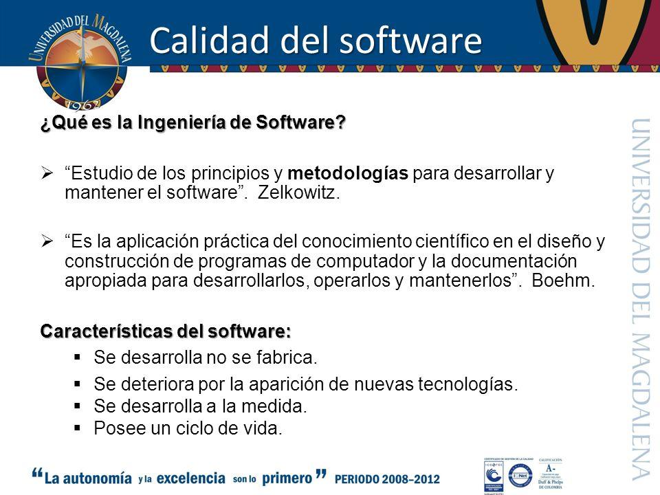 Calidad del software ¿Qué es la Ingeniería de Software