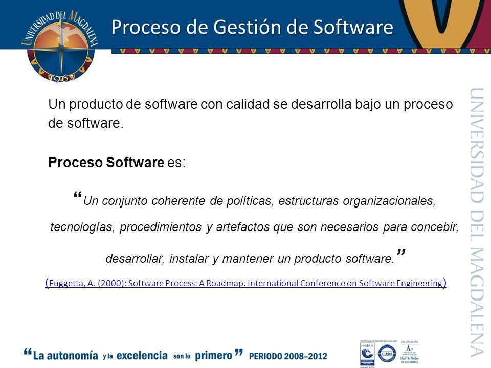 Proceso de Gestión de Software