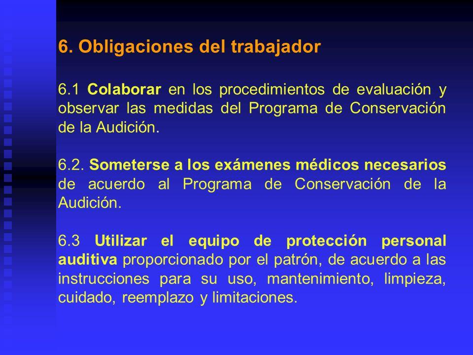 6. Obligaciones del trabajador