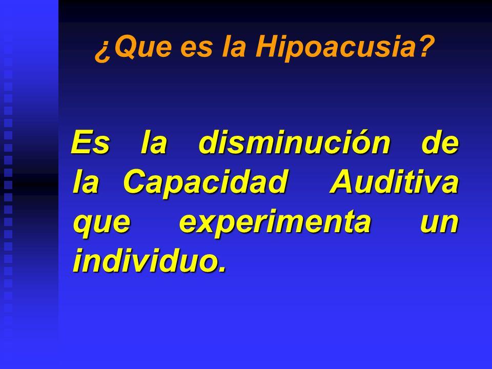 ¿Que es la Hipoacusia.