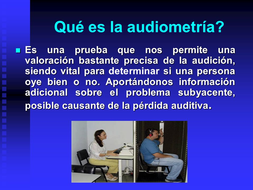Qué es la audiometría