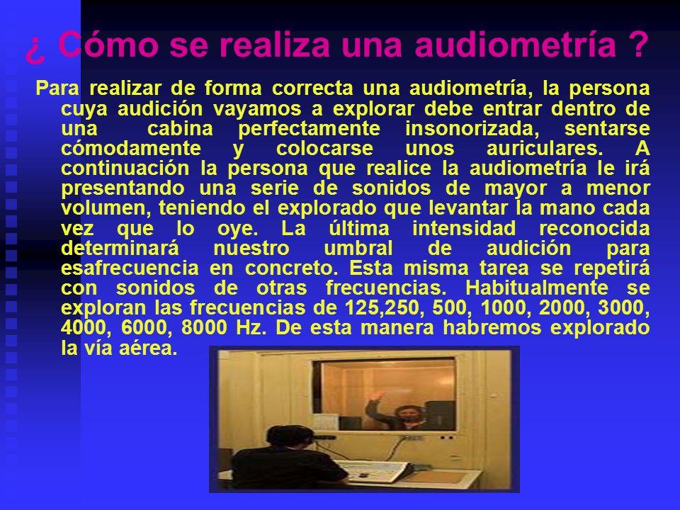 ¿ Cómo se realiza una audiometría