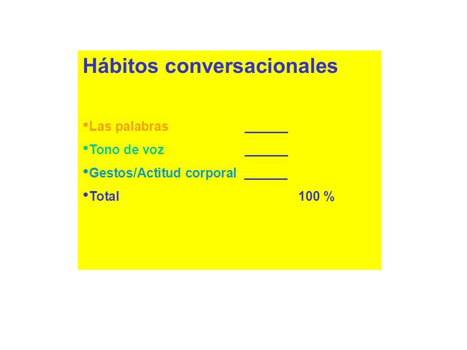 Hábitos conversacionales