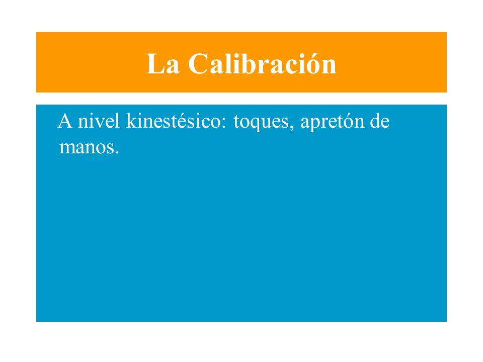 La Calibración A nivel kinestésico: toques, apretón de manos.