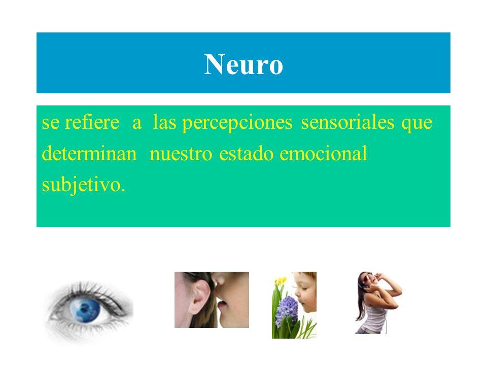 Neuro se refiere a las percepciones sensoriales que
