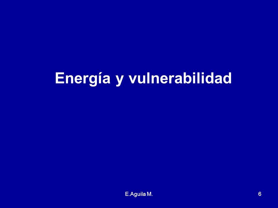 Energía y vulnerabilidad