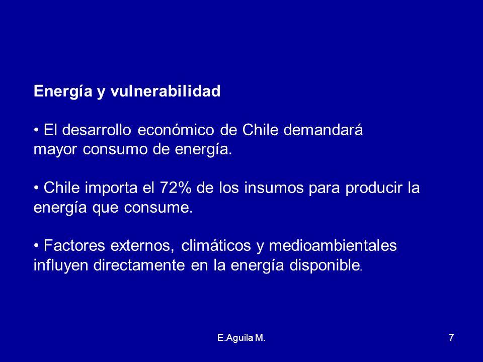 Energía y vulnerabilidad El desarrollo económico de Chile demandará