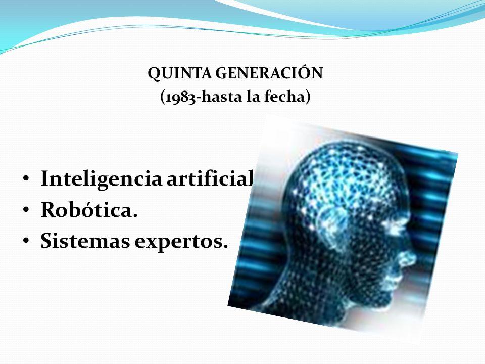 Inteligencia artificial. Robótica. Sistemas expertos.