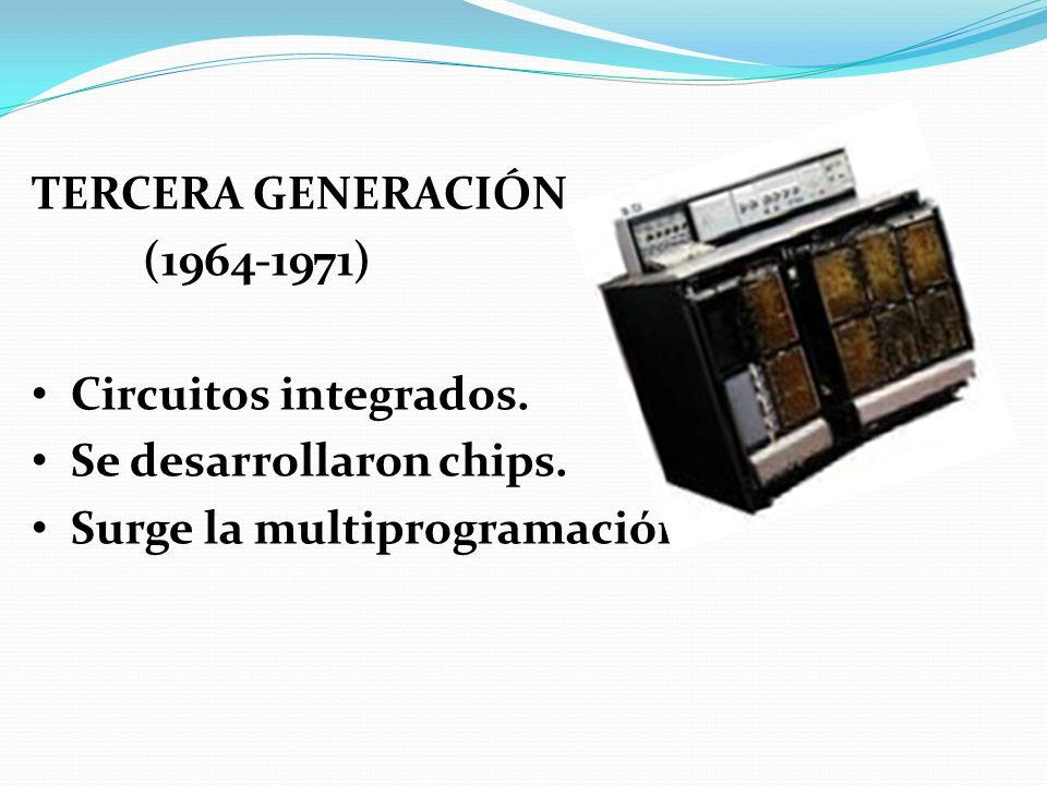 TERCERA GENERACIÓN (1964-1971) Circuitos integrados.
