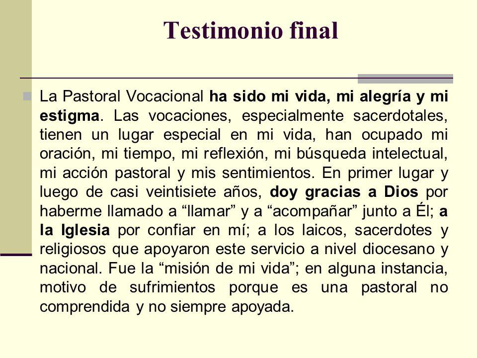 Testimonio final