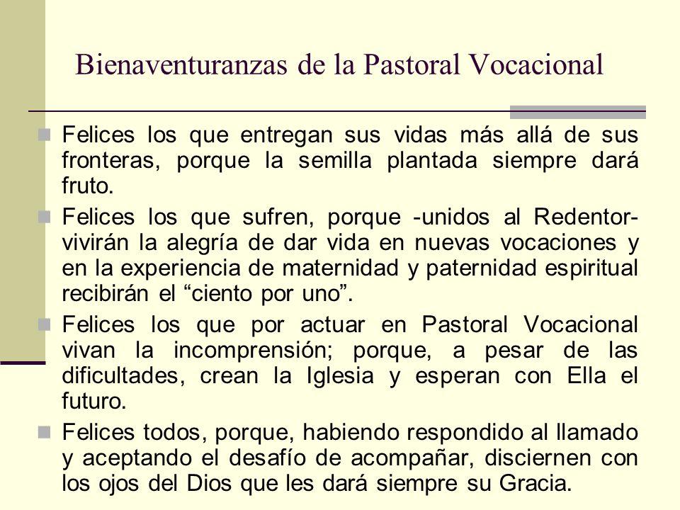 Bienaventuranzas de la Pastoral Vocacional