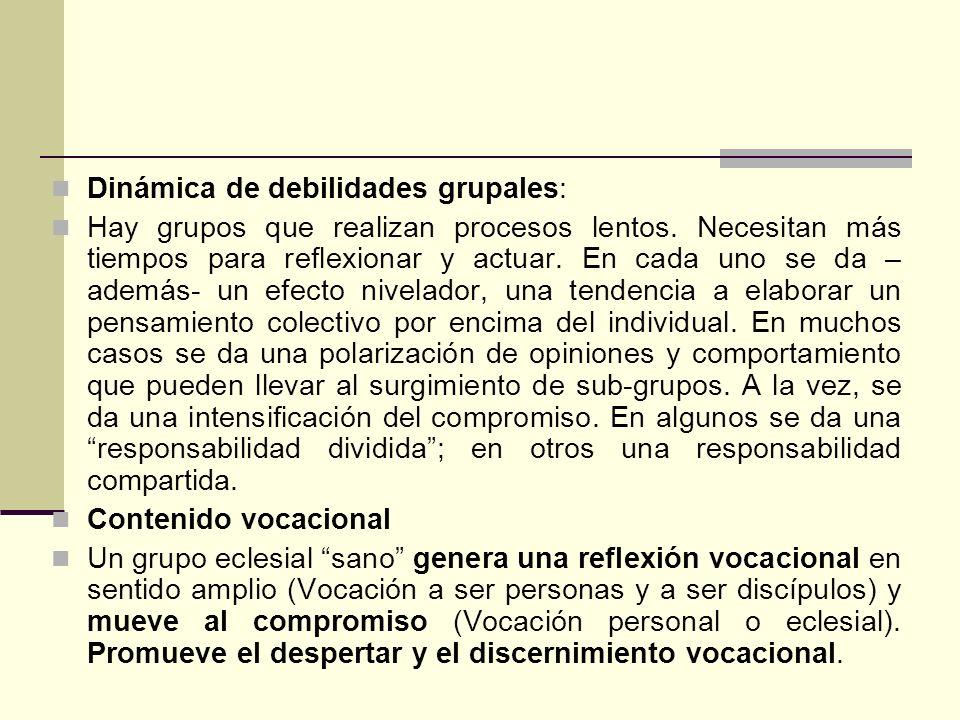 Dinámica de debilidades grupales: