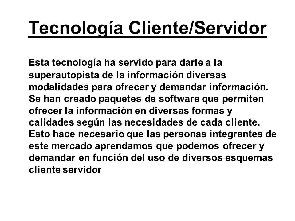 Tecnología Cliente/Servidor