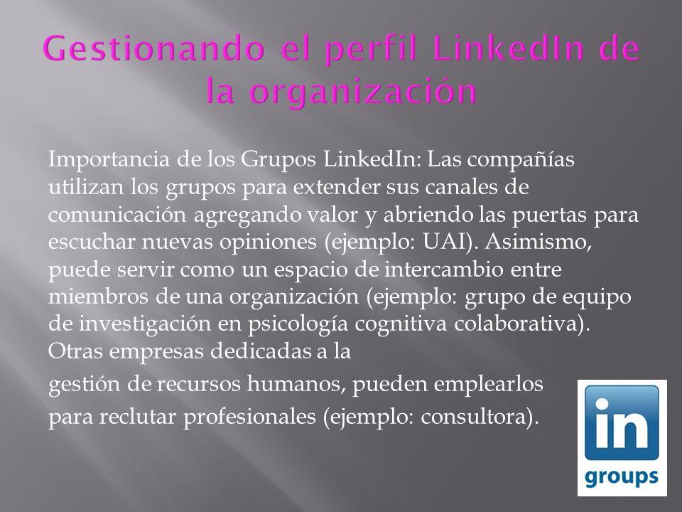 Gestionando el perfil LinkedIn de la organización