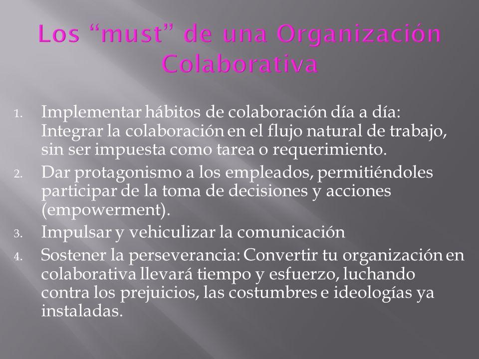 Los must de una Organización Colaborativa