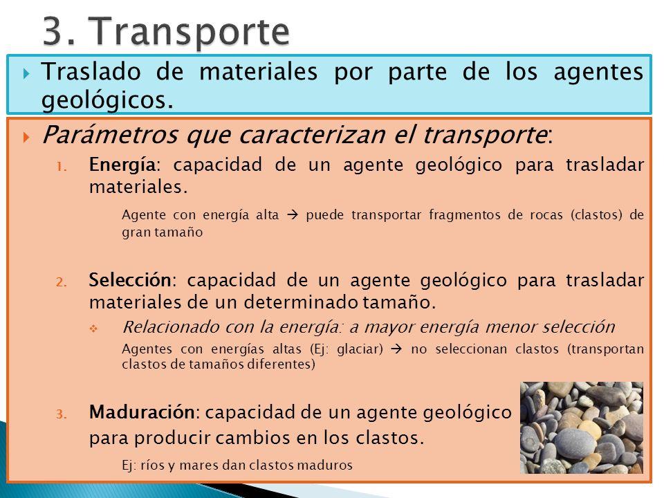 3. Transporte Parámetros que caracterizan el transporte: