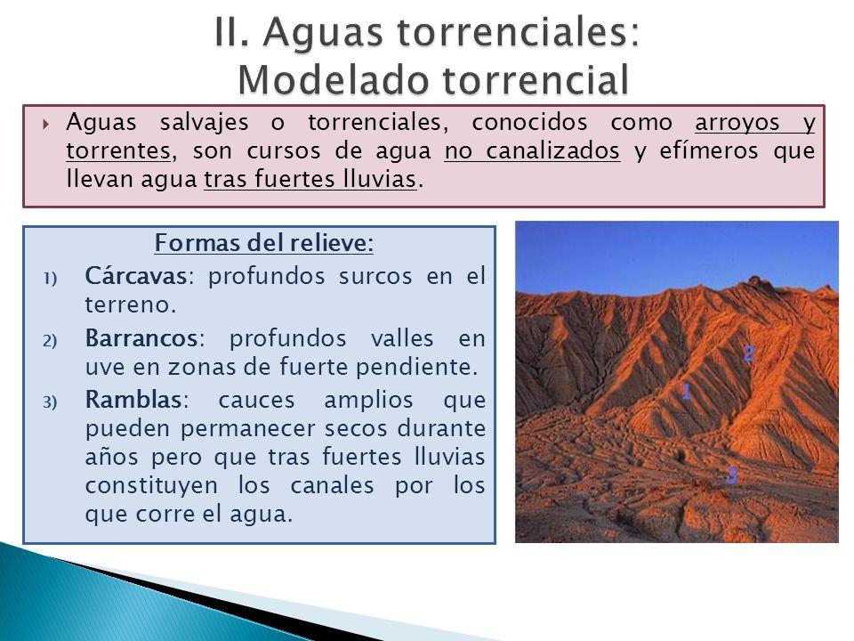 II. Aguas torrenciales: Modelado torrencial